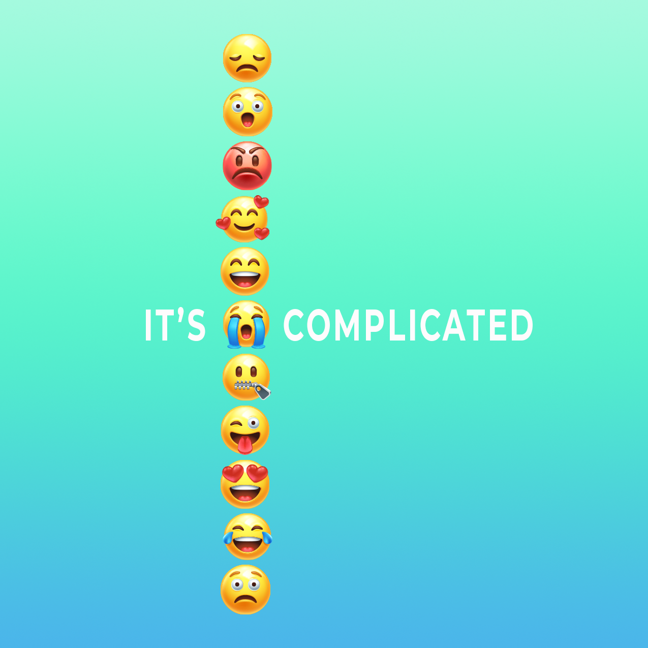 Its Complicated Postcard Front and square image